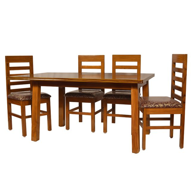 Ludhiana 4 Seater Dining Table in Solid Teak