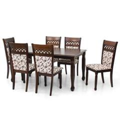 Monarch 4 Seater Solid Wood Dining Table in Walnut Finish
