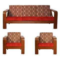 Matrix 3+1+1 Teak Wooden Sofa Set