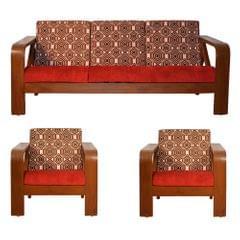 Matrix 3+1+1 Teak Wooden Sofa Set