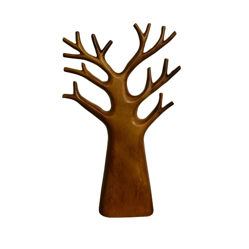 Tree with Branches in Teak Wood - (Small)