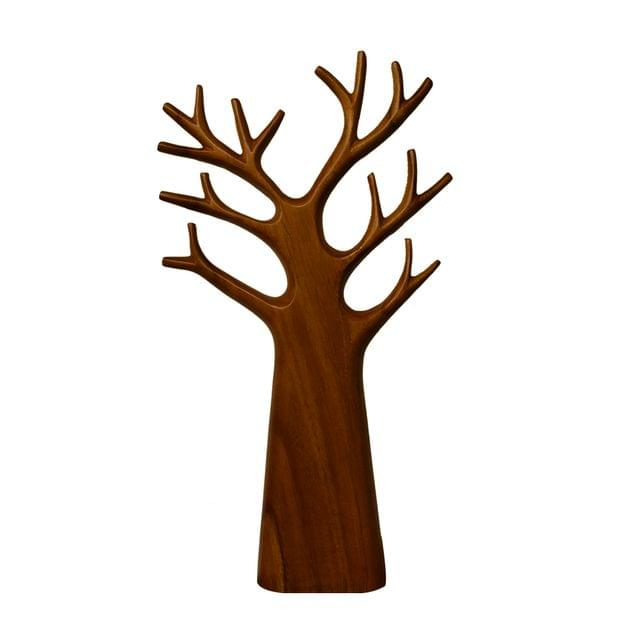 Tree with Branches in Teak Wood - (Medium)