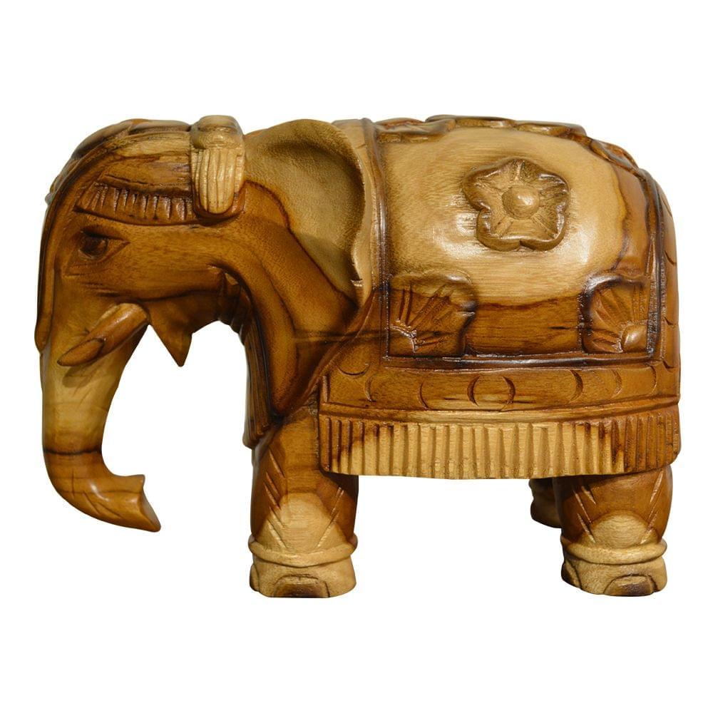 Elephant Wooden Showpiece in Teak Wood