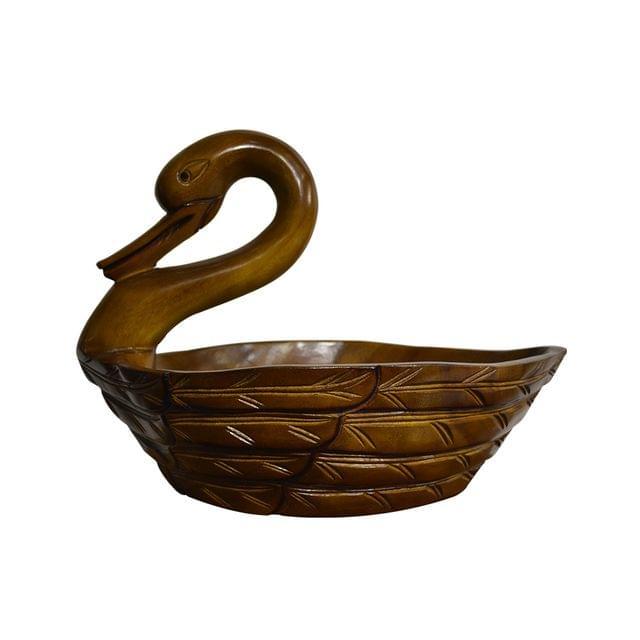 Duck Fruit basket in Teak Wood