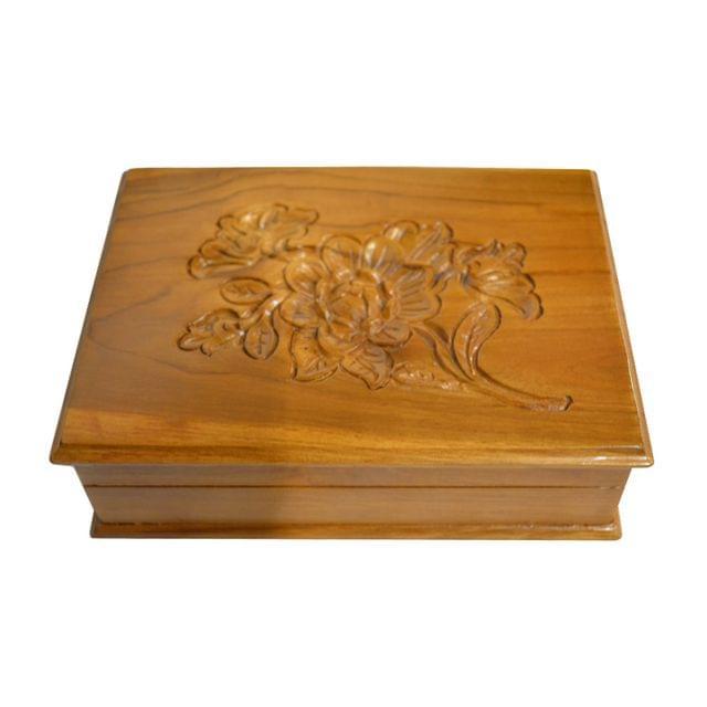 Natural Wood Stash Box in Teak