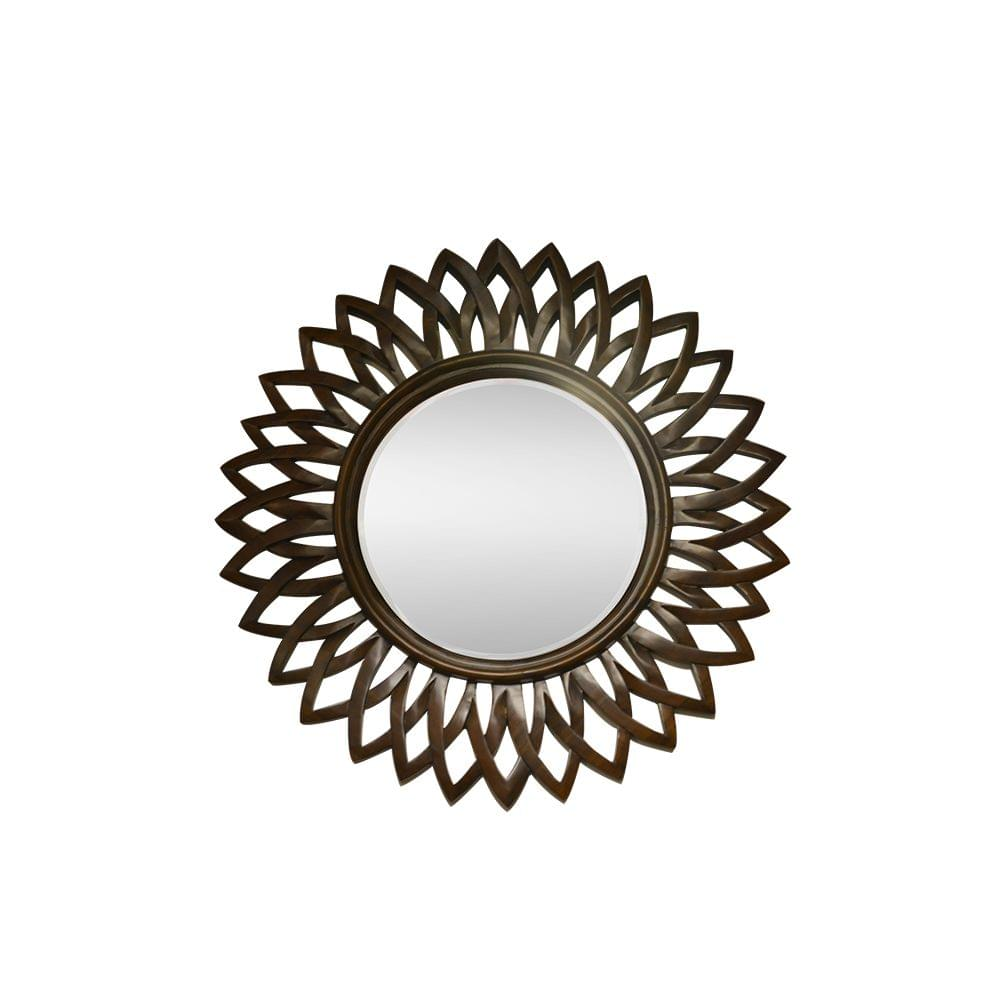 Sunflower Mirror in Pure Teak Wood