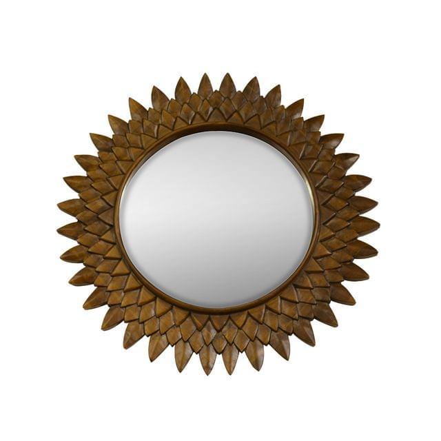 Sun Mirror in Pure Teak Wood