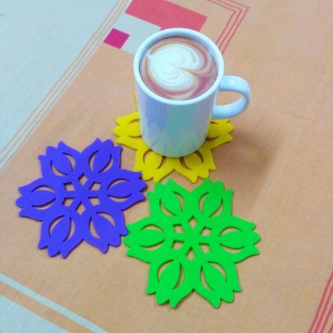 Multicolour Designer Silicone Coster set of 3