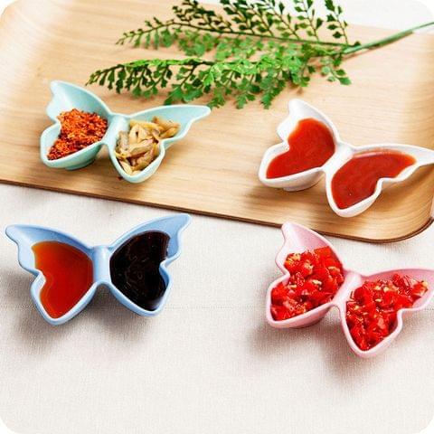 Butterfly Shaped Sauces Plate (Set of 2)