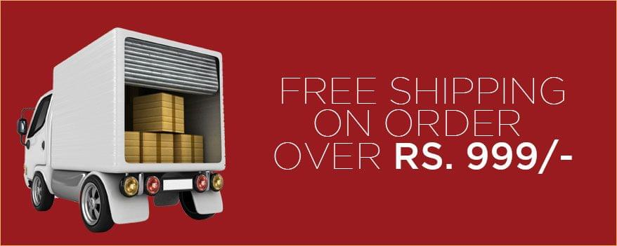 Free Shipping on order  over Rs. 999/-