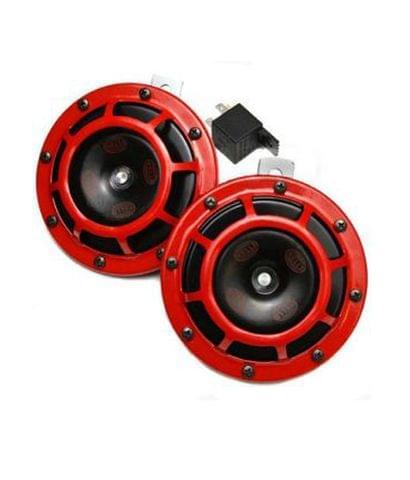 HELLA SUPER LOUD SUPERTONE RED GRILL CAR HORN