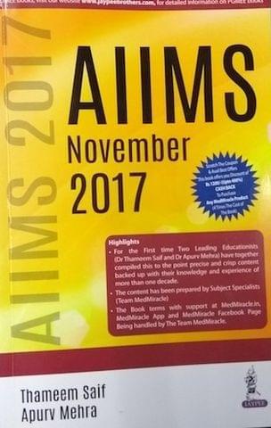 AIIMS November 2017 by Thameem Saif & Apurv Mehra