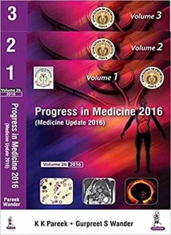 Medicine Update 2016 (Progress In Medicine 2016)  3 Volumes 1st Edition By  Wander Gurpreet S