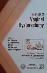 Aicog Manual of Vaginal Hysterectomy 1st Edition 2018 By SN Tripathy