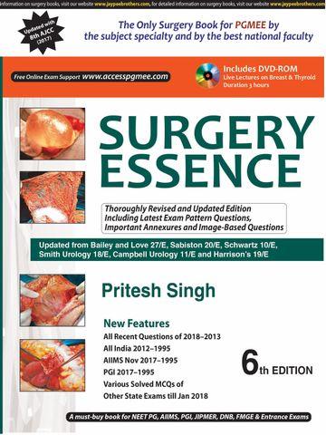 SURGERY ESSENCE 6th edition 2018 by Pritesh Singh