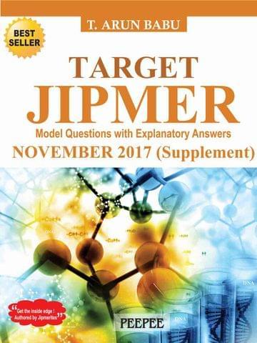 Target Jipmer November 2017 (Supplement) by T Arun Babu