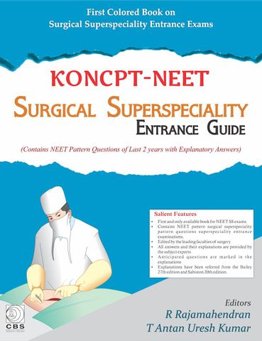 KONCPT-NEET : Surgical Superspeciality Entrance Guide 2018 by R Rajamahendra & T Antan Uresh Kumar