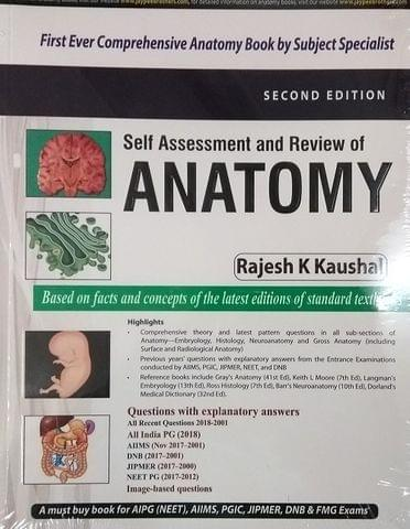 Self Assessment And Review of Anatomy 2nd Edition 2018 By Rajesh K Kaushal