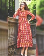 Owomaniya Multicolored Rayon Designer Kurti