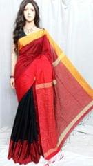 Owomaniya Multicolored Cotton Silk Handloom Saree