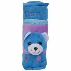 My Fuzzy Blue Teddy Bottle Cover - 250ML Capacity