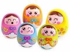 Mummamia Nodding Head Roly Polly Push Toy With Soft Jingling Sound - Random Colours