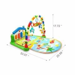 Mummamia Play as You Grow Baby Gym Mat With Piono And Toys