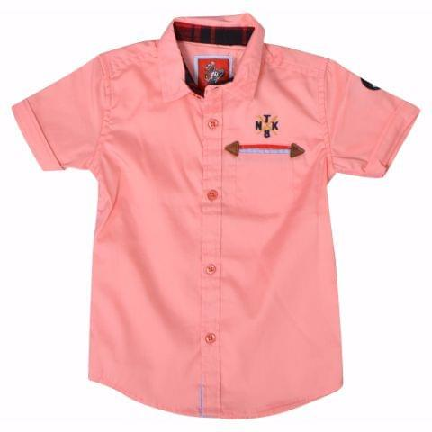 Ripcurl Casual Half Sleeves Peach Shirt