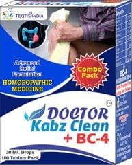 Doctor Kabz Clean + BC 4 Tablet (Combo Pack)