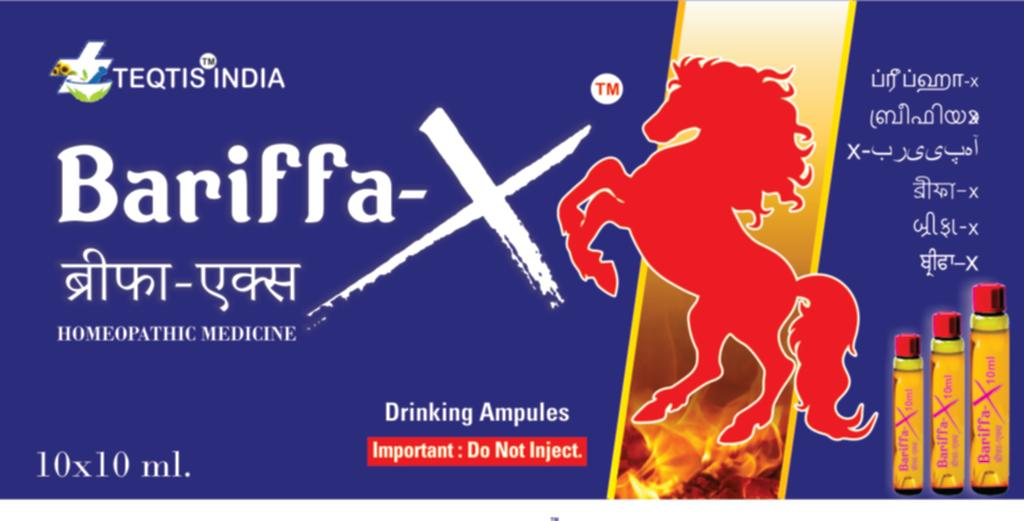 Bariffa-X  ब्रीफा-एक्स (Homeopathic Drinking Ampules)