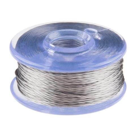 Conductive Thread Bobbin - 12m (Smooth, Stainless Steel)