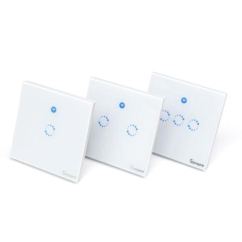 Sonoff T1: 1-3 Gang WiFi & RF 86 Type UK Smart Wall Touch Light Switch