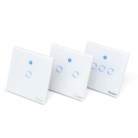 Sonoff T1: 1-3 Gang WiFi & RF 86 Type UK Smart Wall Touch Light Switch
