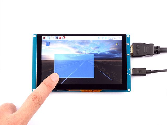 5 inch 800x480 Capacitive TouchScreen
