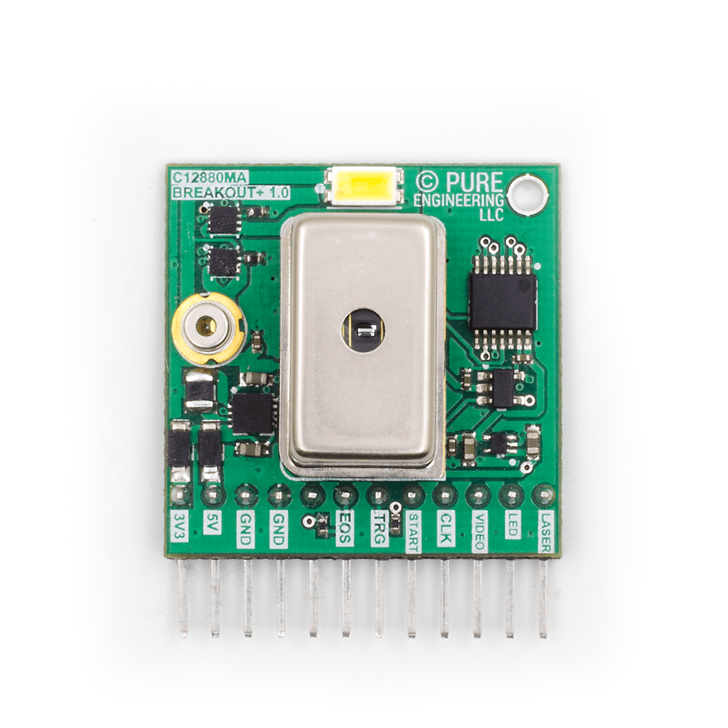 Hamamatsu C12880MA MEMS u-Spectrometer and Breakout Board