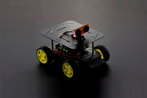 Pirate: 4WD Arduino Mobile Robot Kit with Bluetooth 4.0