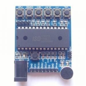 ISD1760 voice board voice recording sound module module on-board microphones