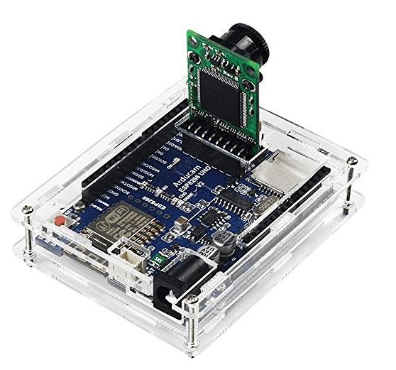 Arducam ESP8266 UNO Kit Included Development Board OV2640 Mini Module Camera Shield and Clear Acrylic Case Compatible with Arduino UNO R3