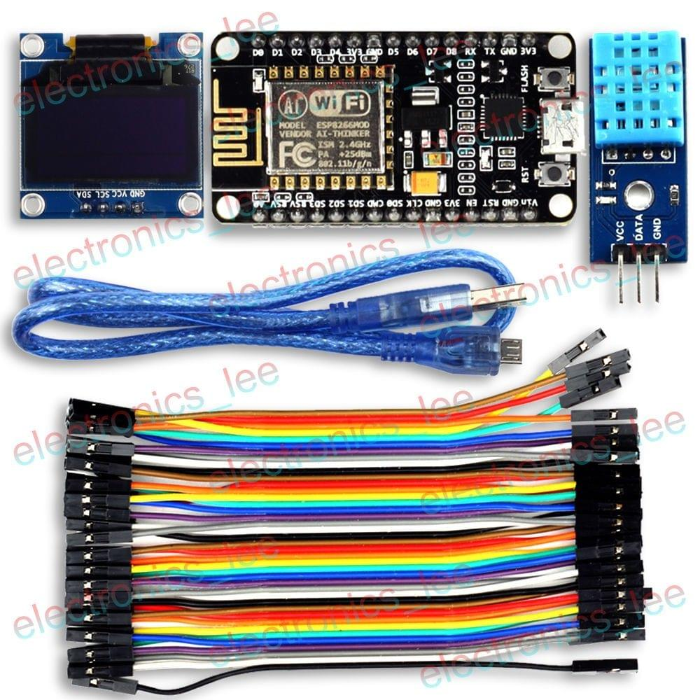 Uctronics Esp8266 Esp 12e Iot Weather Station 096 Oled Dht11 For Adjustable Breadboard Power Supply Kit Adafruit Industries Arduino Ide