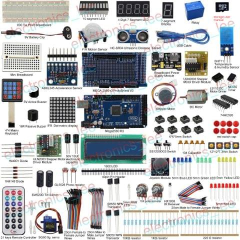 UCTRONICS Ultimate Kit 33 project for Arduino Mega2560 R3 Servo Sensor LCD1602