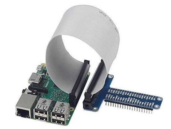 UCTRONICS Assembled T Type Plus GPIO Expansion Board + 20cm FC40 40pin Flat Ribbon Cable for Raspberry Pi Model B+, 2 model B, Raspberry Pi 3