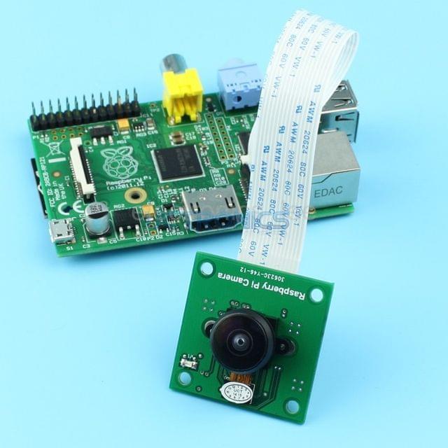 OV5647 Camera Board /w M12x0.5 mount LS-40180 Fisheye Lens for Raspberry Pi