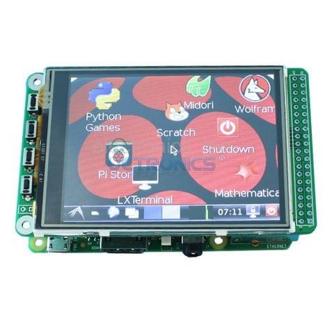 "320X240 3.2"" TFT LCD expansion display + touchscreen for Raspberry Pi B+ Board"