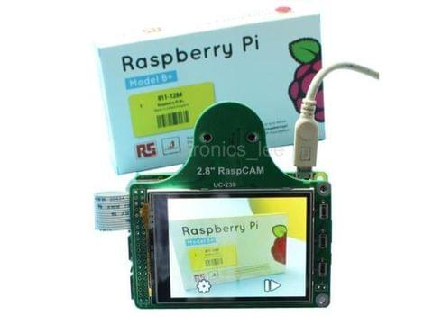 "RaspCAM 2.8"" TFT LCD display + TSP+ camera module /w M12*0.5 for Raspberry Pi B+"
