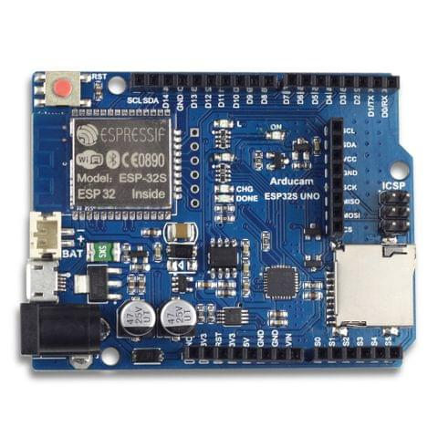 Arducam ESP32 UNO Board for Arducam Mini Camera Module Compatible with Arduino UNO R3