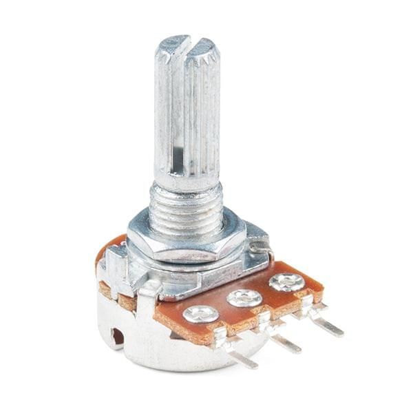 Rotary Potentiometer - 100k Ohm, Logarithmic (Panel Mount)