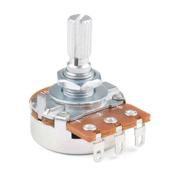Rotary Potentiometer - 250k Ohm, Logarithmic (Panel Mount)