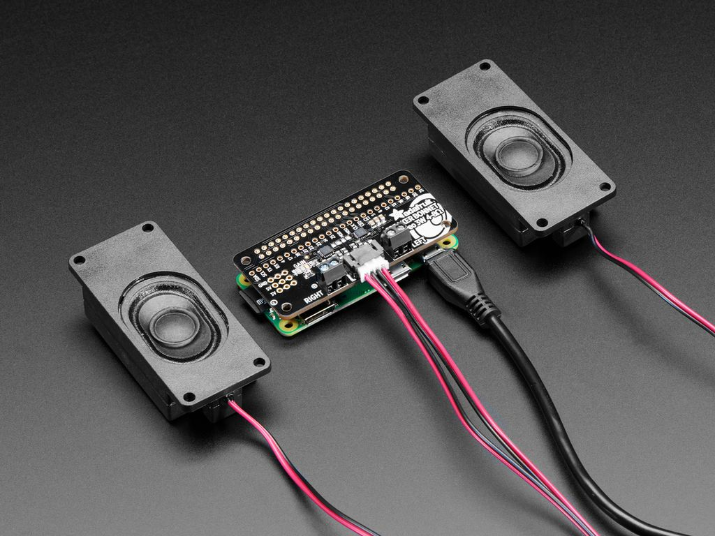 Adafruit I2S 3W Stereo Speaker Bonnet for Raspberry Pi - Mini Kit