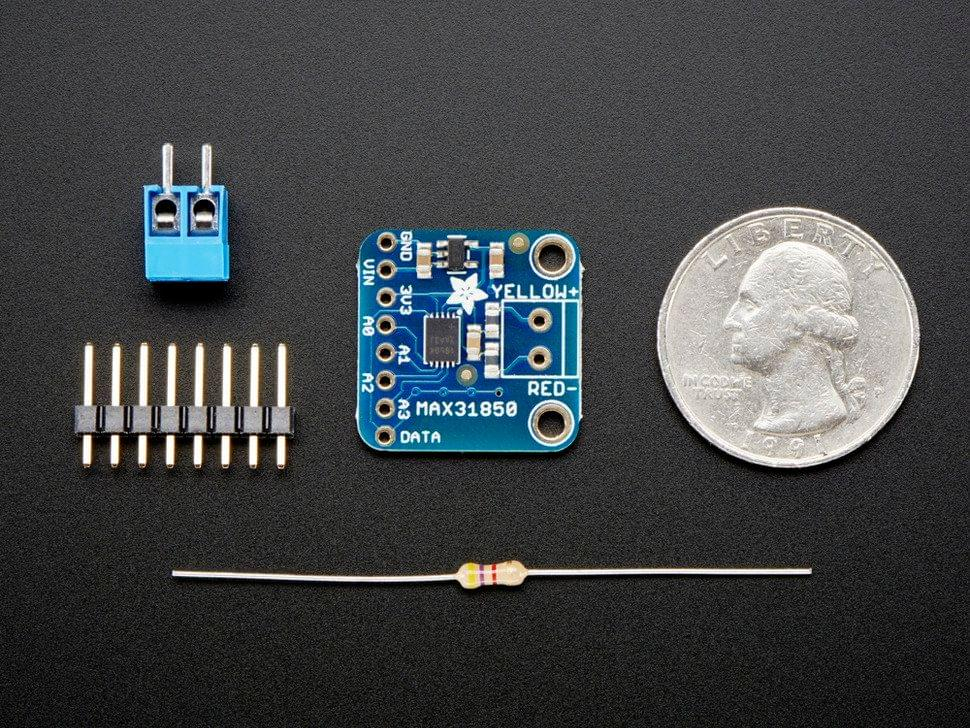 Thermocouple Amplifier with 1-Wire Breakout Board - MAX31850K
