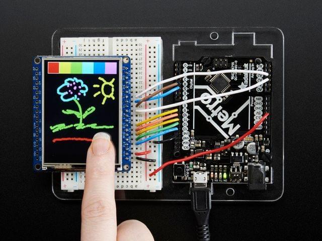 "Adafruit 2.4"" TFT LCD with Touchscreen Breakout w/MicroSD Socket - ILI9341"